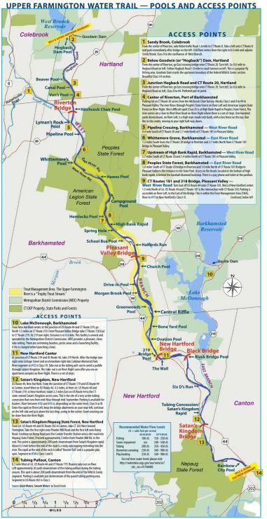 farmington river access points map